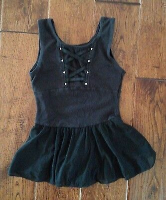 Freestyle Black Leotard With Skirt Girls Size Small