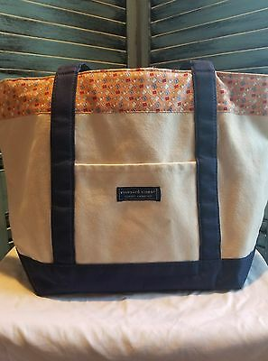 Vineyard Vines Custom Collection Women's Canvas Medium Tote Hanes Shopping Bag