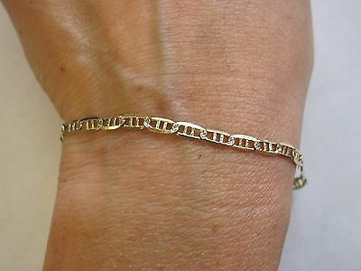 14K Yellow Gold 9.5 Inch Long Bracelet Or Anklet  (G16)