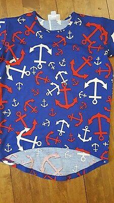 LuLaRoe ANCHORS GRACIE TEE SIZE 6 RED WHITE BLUE AMERICANA