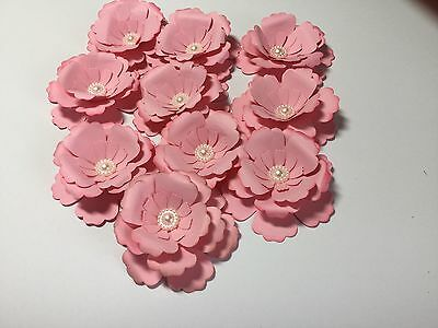 10 Large Paper Flowers/ Wedding/ Craft.