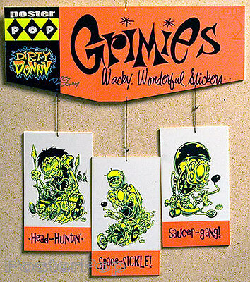 Dirty Donny Grimies Silkscreened Hanging Mobile 2007 Rare Stickers Hotrod Poster