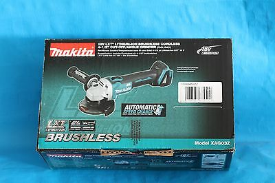 "Brand New Makita Angle Grinder 18V Brushless LXT® Cordless Li‑Ion 4½"" XAG03Z"