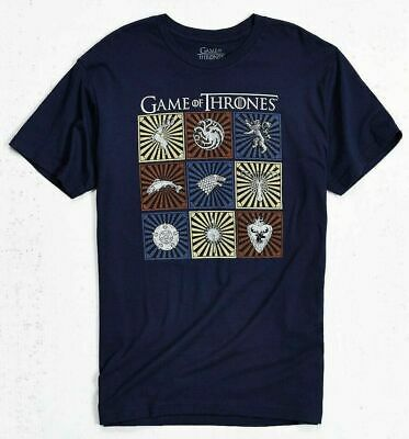 HBO Game Of Thrones HOUSE SIGILS TARGARYEN STARK LANNISTER T-Shirt NWT Official