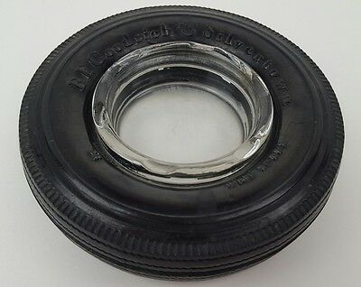 Vintage BF Goodrich Tires Silvertown 6.00-16 4 Ply Rubber & Glass AshTray