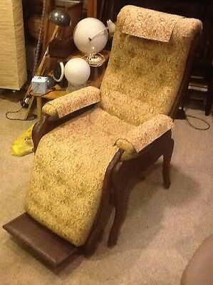 Antique 1800's Victorian Upholstered Recliner Beautiful Condition!