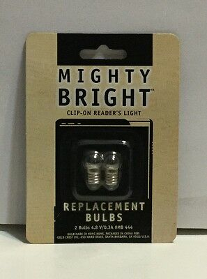 Mighty Bright Clip On Reader's Light Replacement Bulbs (2) 4.8V MB444