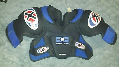 Easton Extreme Hockey Protectivr Chest and Shoulder Pads Medium Black and Blue