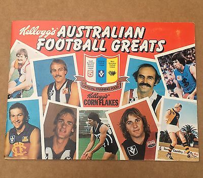 Complete 1981 Kellogg's Australian Football Greats Album With All 30 Cards