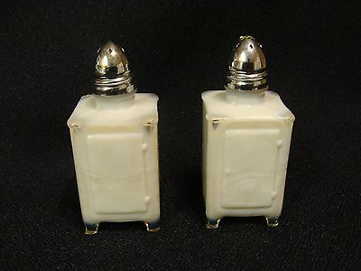 EAPG  Pair of Opaque White Ice Box Shakers