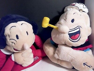 """Popeye And Olive Oyl Hand-Puppets """"Putting Fun In Fundamentals"""" Plush"""