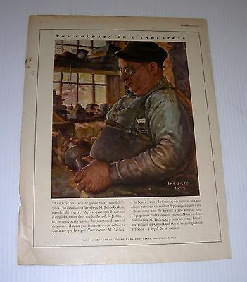 MOLSON beer  advertising WWII soldtat industrie Iacurto tabloid Page French
