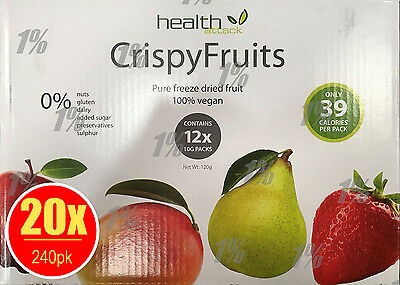 20 x Health Attack Fruits Multibox 12pk x 10g Pure Freeze Dried fruit 100% vegan