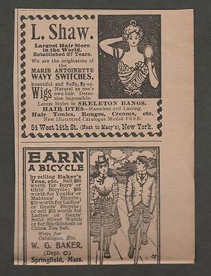 Vintage Ad From The Gentlewoman March 1900 L. Shaw Wigs, Switches & Hair Dyes