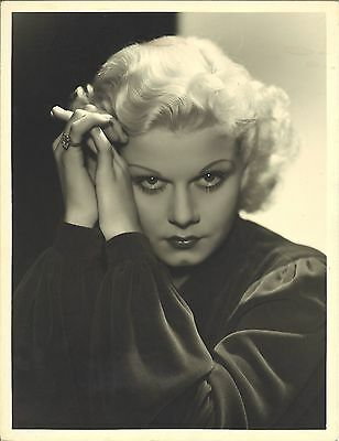 *Jean Harlow Vintage Original Oversized Double-Wt MGM Photo By GEORGE HURRELL