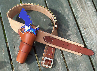 Reddog Leather Cowboy Western John Wayne Holster and Belt SASS the DUKE rig!!