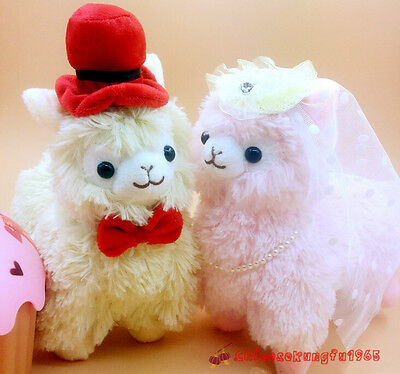 11'' Couples Alpacasso Baby Amuse Llama Wedding Bridegroom Alpaca Stuffed Plush