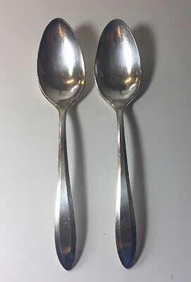 2 Oneida Community Patrician Serving Spoons Silverplate Flatware  8 1/4""