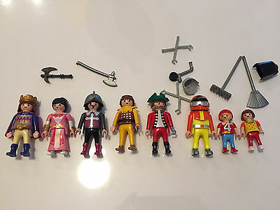 Playmobil Early 1990`s People Action Figures Lot