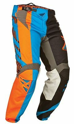 Fly Racing Cross Hose Kinetic Division - Schwarz/Blau/Orange