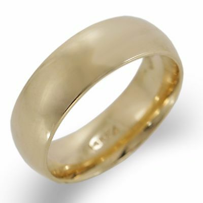 14K Yellow Gold Fancy Custom Made Wedding Band Ring 6 mm Size 5