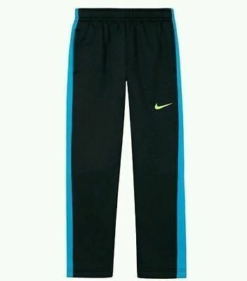 $38 NWT Nike Boys Thermal Fit Fleece Athletic Sweat Pants Size 4 Black Blue