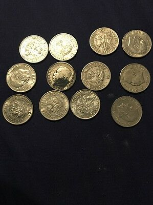 12 Haiti 10 cents coins See Pictures