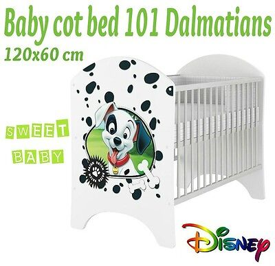 Baby Cot Disney For Baby Child 120X60 Cm With 101 Dalmatians
