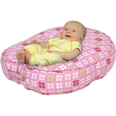 Leachco Bummzie Sling-Style Infant Lounger, Pink 4 Squares - adjustable seat NEW