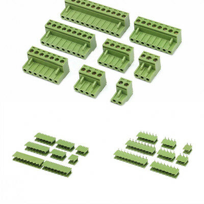 PCB Terminal Block Screw Connector 2/3/4/5/8/9/10/12 Pin KF2EDGK 5.08mm Pitch