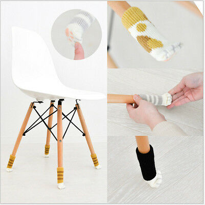 4Pcs Knit Wool Floor Protector Cat Claws Chair Table Leg Foot Sock Sleeve Cover