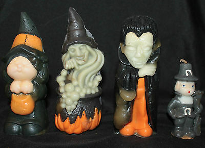Vtg Fall / Halloween CANDLE & WIZARD AIR FRESHENER LOT Dracula, Witches, Pilgrim