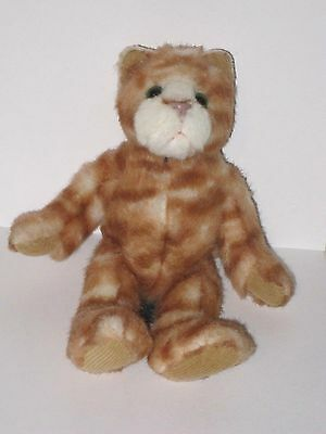 "Russ Berrie Heartcraft Collection 8"" TABATHA Tabby Cat Plush Stuffed Animal"