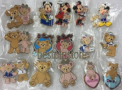 Hong Kong Disney pin HKDL 15 Full Pin Set - Mickey Minnie Duffy & ShellieMay Pin
