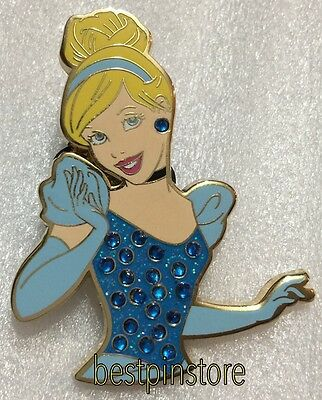 Hong Kong Disney pin - HKDL Princess Rhinestone - Cinderella Only RARE