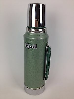 Aladdin Stanley Thermos A-944DH Green 1 Qt Heavy Duty VTG Stainless Chrome Green
