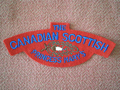 WW2 The Canadian Scottish Princess Mary's Cloth Shoulder Title