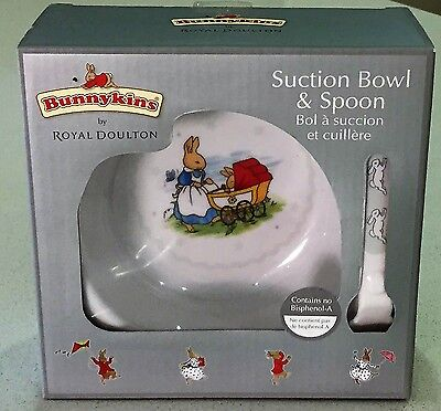 BRAND NEW IN BOX - Royal Doulton Bunnykins Suction Bowl & Spoon