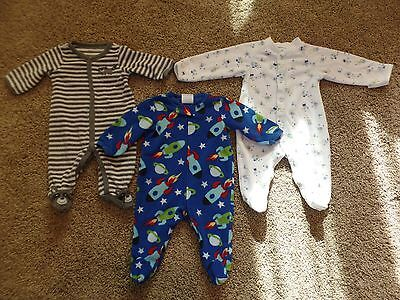 Baby or infant boy size 0-3 months Carter's and other sleeper pajamas lot