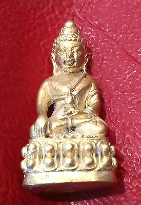 Antuque pra kring gold brass BE.2517 Lp.Tim wat rahanrai chinbunchon thai amulet