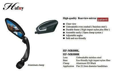 Hafny HF-MR080 Fully Adjustable Magic Bicycle Rear View Mirror - Right