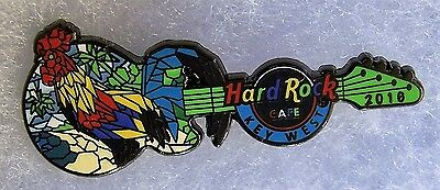 Hard Rock Cafe Key West Mosaic Rooster Guitar Pin # 91370
