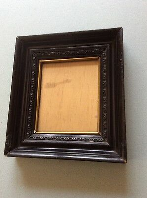 Old vintage small picture/ photo frame black