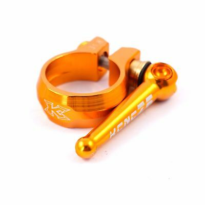 KCNC SC12 Road Cyclocross Mountain MTB Bike Cycling Seatpost Clamp 31.8mm Gold