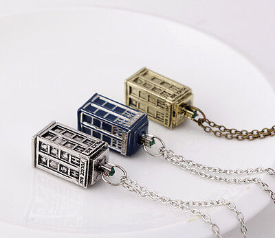 TV Serious Doctor Who BBC Tom Baker Police Box Public Call Necklace 3color