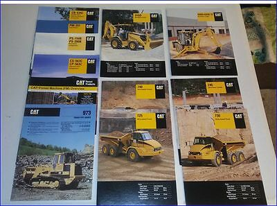Caterpillar Lot of 12 booklets  Backhoe, Cat Wagons, Paving Machines