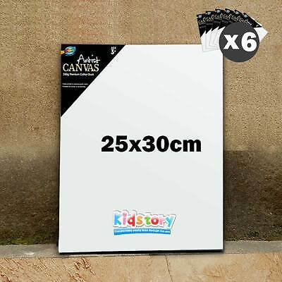 6 x Artist Blank Canvas Panel Board 25cm x 30cm Thick Art Drawing Wholesale