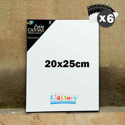 6 x Artist Blank Canvas Panel Board 20cm x 25cm Thick Art Drawing Wholesale
