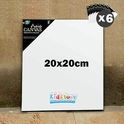 6 x Artist Blank Canvas Panel Board 20cm x 20cm Thick Art Drawing Wholesale