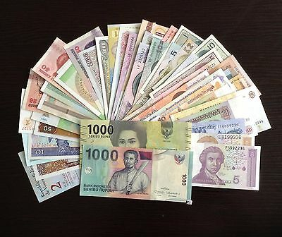 Lot 50 PCS Different Banknotes Of 20 Countries,UNC